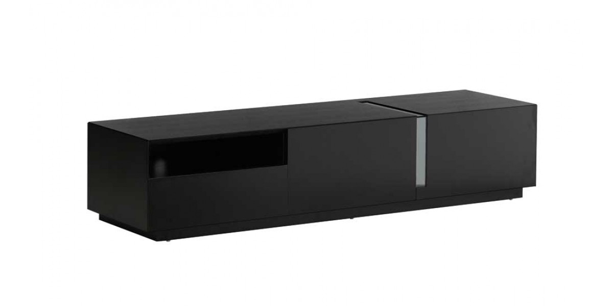 Impressive Preferred Modern White Lacquer TV Stands For Black Lacquer Finish Modern Tv Stand Tv (Image 25 of 50)