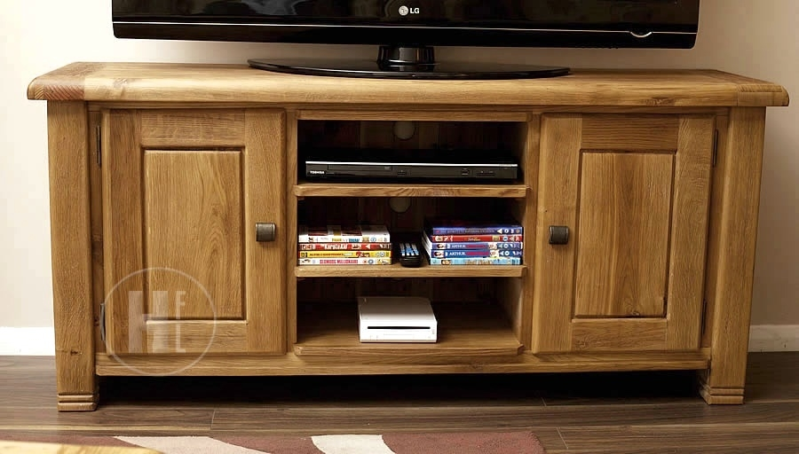Impressive Preferred Oak TV Cabinets Inside 50 Off Oak Tv Stands Units Cabinets Home Furniture Land Uk (Image 24 of 50)