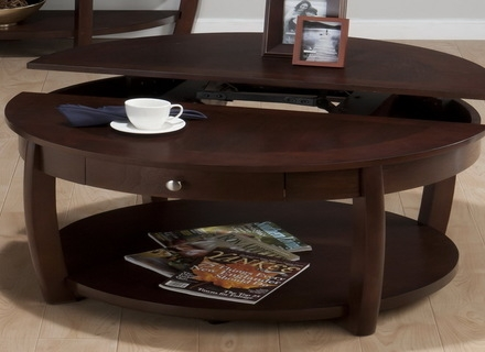 Impressive Preferred Round Coffee Tables With Storage Within Coffee Table Wood Round Jerichomafjarproject (View 10 of 50)