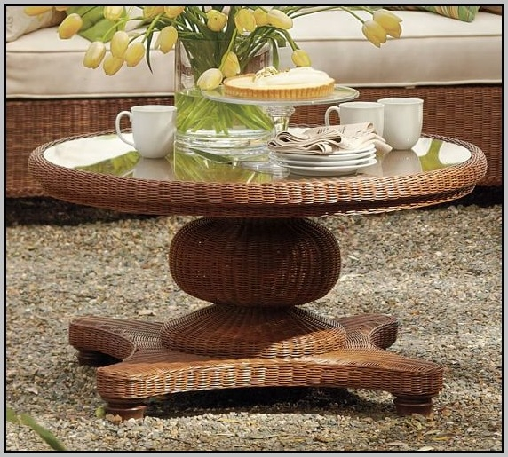 Impressive Preferred Round Woven Coffee Tables For Lanai Woven Round Coffee Table Ottoman Coffee Table Home (Image 34 of 50)