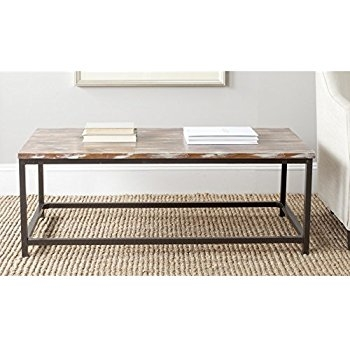 Impressive Preferred Safavieh Coffee Tables With Regard To Amazon Safavieh American Home Collection Dennis French Grey (Image 31 of 50)