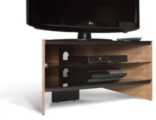 Impressive Preferred Techlink Corner TV Stands With Regard To Techlink Riva Corner Tv Stand With Curved Walnut Side Panels And (Image 22 of 50)