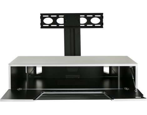 Impressive Preferred White Cantilever TV Stands Throughout Alphason Chromium White Cantilever Tv Stand For Up To 50 Tvs Ebay (Image 26 of 50)