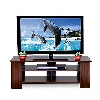 Impressive Preferred Wooden TV Stands For Flat Screens Within Wood Tv Stand Entertainment Center Storage Modern Media Console (View 48 of 50)