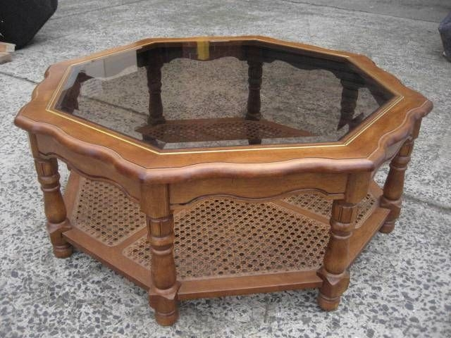 Impressive Premium Antique Glass Top Coffee Tables With Regard To 21 Best Octagon Coffee Table Images On Pinterest Coffee Tables (View 4 of 50)