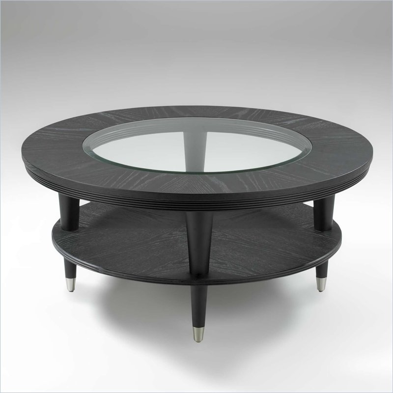Impressive Premium Black Circle Coffee Tables In Black Coffee Table Mainittu Torille Black Coffee View In Gallery (Image 28 of 50)