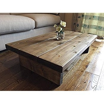 Impressive Premium Chunky Wood Coffee Tables In Solid Rustic Handmade Pine Coffee Table Chunky Oak Effect Finish (Image 26 of 50)