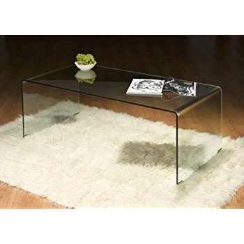 Impressive Premium Curved Glass Coffee Tables Inside Julian Bowen Amalfi Bent Coffee Table Glass Clear Amazoncouk (Image 27 of 50)