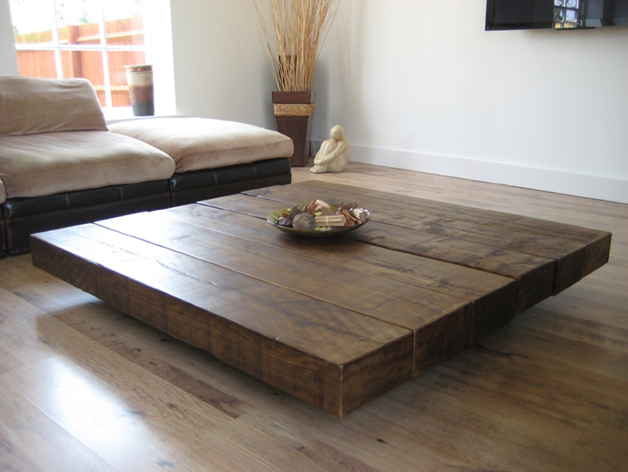 Impressive Premium Dark Wood Square Coffee Tables Regarding Furniture Rustic Wood Coffee Table For Your Ideal Home (Image 29 of 50)