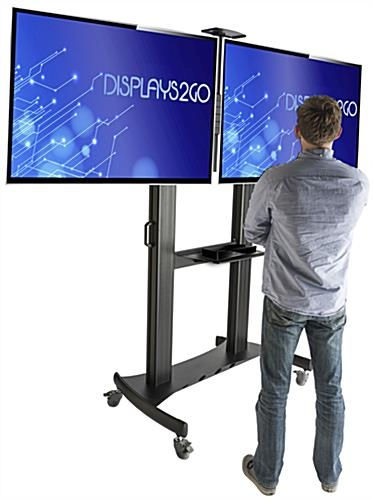 Impressive Premium Dual TV Stands Intended For Dual Screen Tv Stand Vesa Compliant (Image 25 of 50)