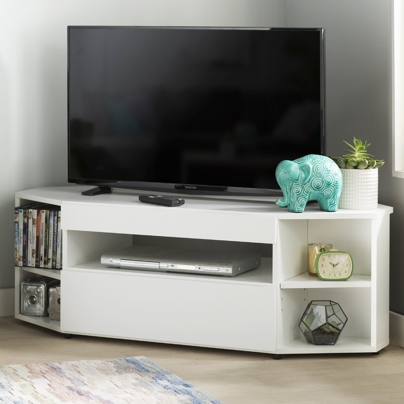 Impressive Premium Glass Corner TV Stands For Flat Screen TVs Within Shop 148 Corner Tv Stands (Image 25 of 50)