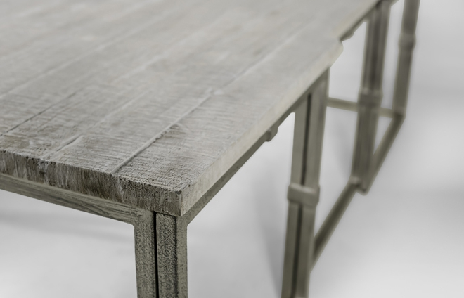 Impressive Premium Grey Wood Coffee Tables In Table Grey Wood Rectangular Brushed Silver Alden (Image 28 of 50)