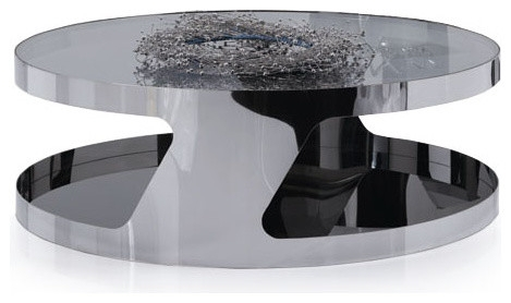 Impressive Premium Modern Chrome Coffee Tables Throughout Chrome Coffee Table (Image 23 of 40)