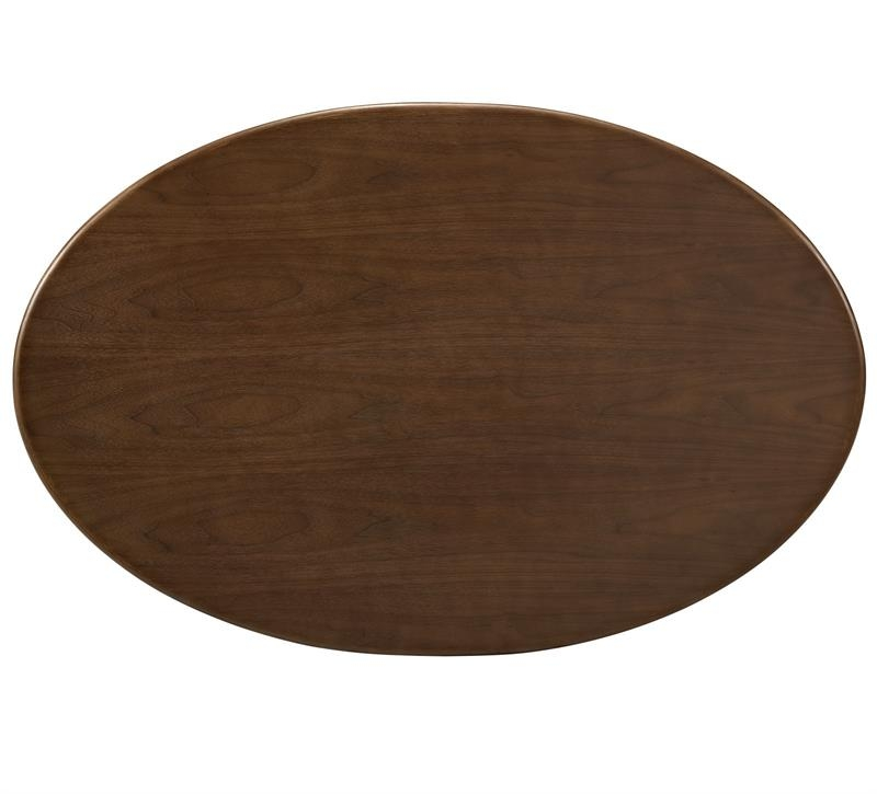 Impressive Premium Oval Walnut Coffee Tables In Saarinen Walnut Oval Coffee Table Flower 42 Oval Shaped Walnut (Image 30 of 50)