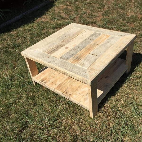 Impressive Premium Square Wooden Coffee Tables In Pallet Wood Square Coffee Table Pallet Furniture Diy (Image 28 of 50)