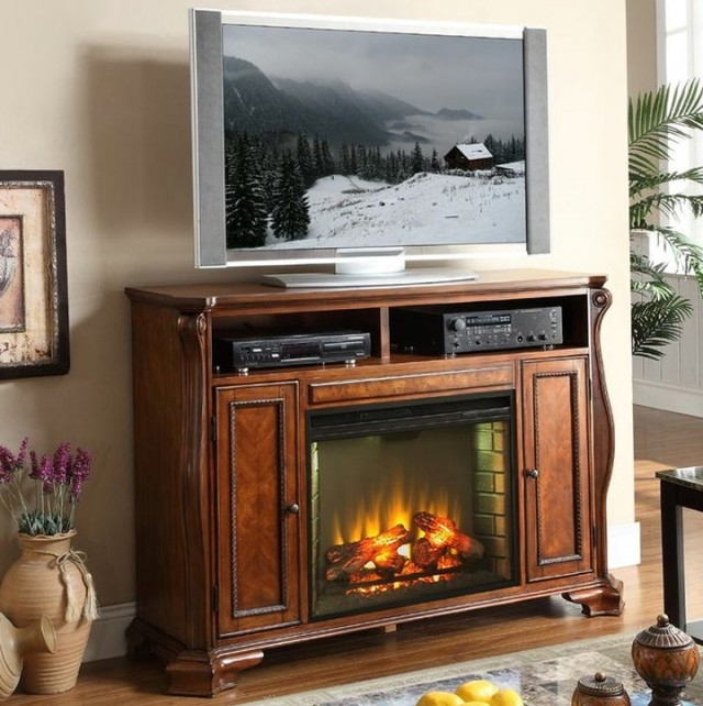 Impressive Premium Stands Alone TV Stands Within Stand Alone Gas Fireplace Heater Home Design Ideas (Image 28 of 50)