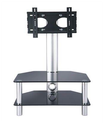 Impressive Premium Swivel Black Glass TV Stands With 61 Best Black Glass Tv Stands Images On Pinterest Cable (Image 31 of 50)