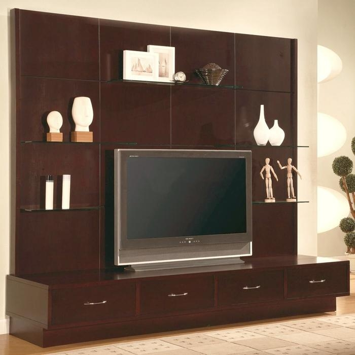 Impressive Premium TV Stand Wall Units For Simple Bedroom Wall Units With Nice Tv Stand And Shelves (Image 31 of 50)