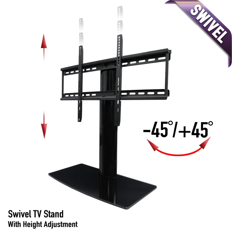 Impressive Premium TV Stands With Mount Regarding Universal Tabletop Tv Stand Swivel Height Adjustment Av (Image 27 of 50)