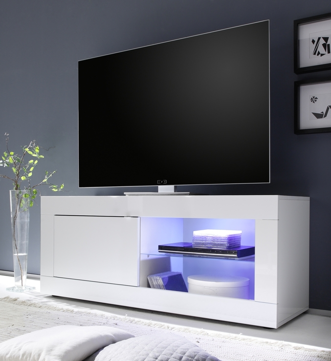 Impressive Premium White Gloss TV Stands With Drawers Within Tv Stands Slim And Tall Tv Stand For Bedroom On Wheels Design (Image 23 of 50)