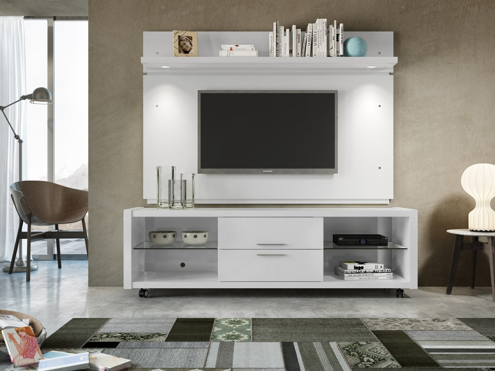 Impressive Premium White TV Stands For Flat Screens With Tv Stands Glamorous Rolling Tv Stands For Flat Screens  (Image 33 of 50)
