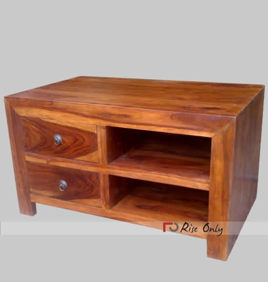 Impressive Premium Wooden TV Cabinets Throughout Small Size Wooden Tv Cabinet Online Sheesham Wood Mini Tv Cabinet (View 11 of 50)