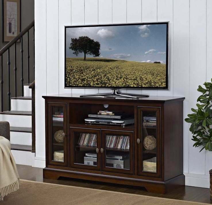 Impressive Premium Wooden TV Stands For 55 Inch Flat Screen Intended For Television Stand Highboy Tv Stands Entertainment Center (View 18 of 50)