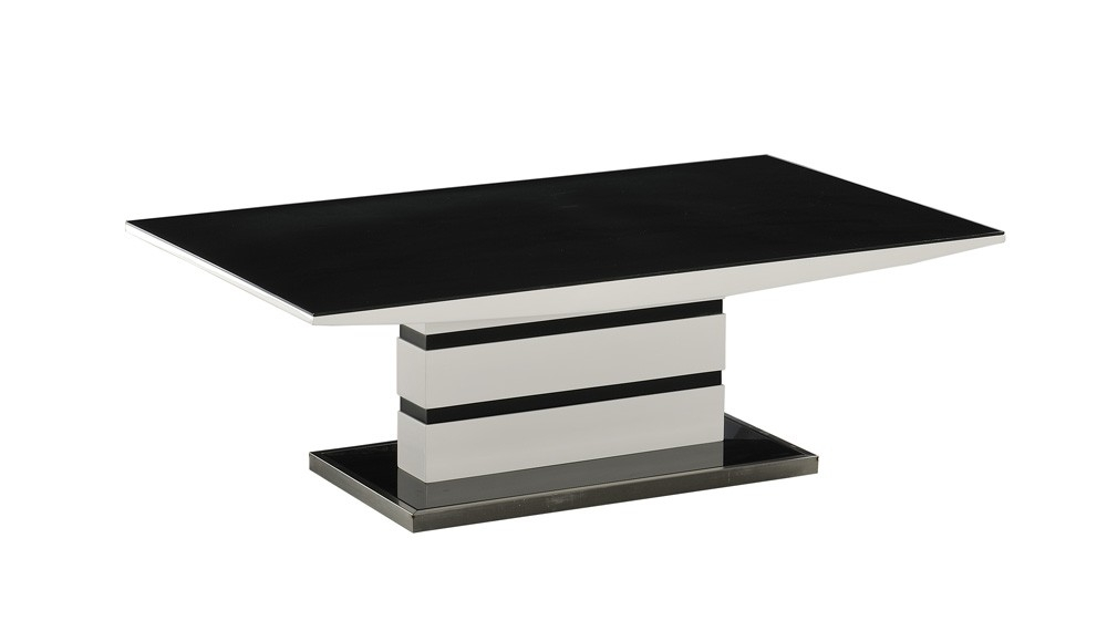 Impressive Series Of Black Glass Coffee Tables  Intended For Beautiful Black Glass Coffee Table With White Gloss Legs In Decor (Image 31 of 50)