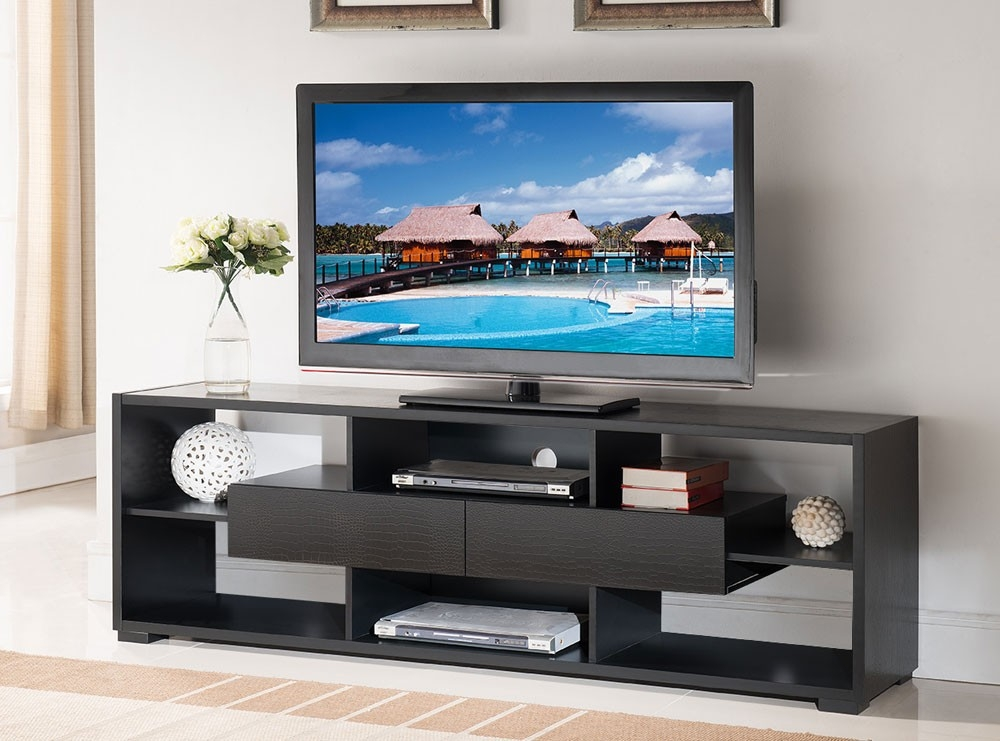 Impressive Series Of Black Modern TV Stands For Black Modern Tv Stand (Image 22 of 50)