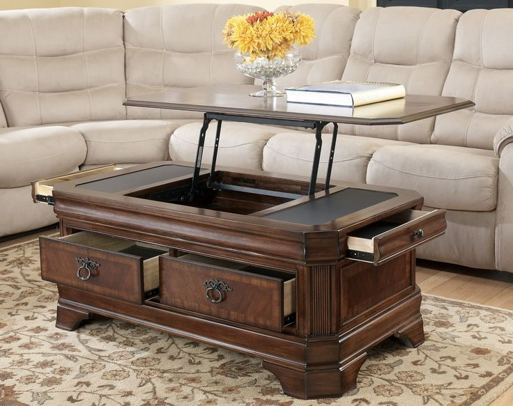 Impressive Series Of Coffee Tables With Raisable Top Pertaining To Best 25 Adjustable Height Coffee Table Ideas Only On Pinterest (Image 27 of 50)