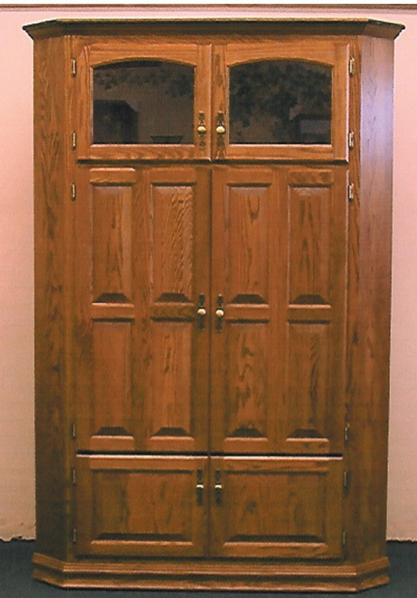 Impressive Series Of Corner TV Cabinets For Flat Screens With Doors Pertaining To Tall Corner Tv Cabinet For 35 Tv Clear Creek Amish Furniture (Image 28 of 50)