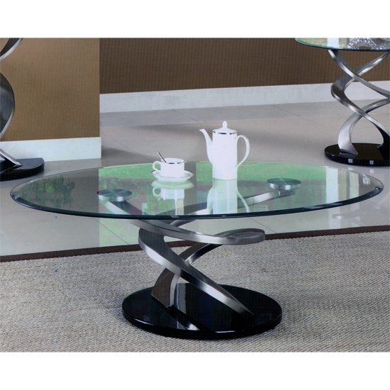 Impressive Series Of Glass Coffee Tables Within Spiral Glass Coffee Table 25298 Furniture In Fashion (Image 26 of 50)