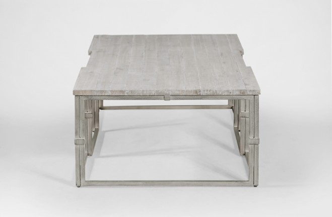Impressive Series Of Grey Wood Coffee Tables Throughout Coffee Table Grey Wood Rectangular Brushed Silver Alden (Image 29 of 50)