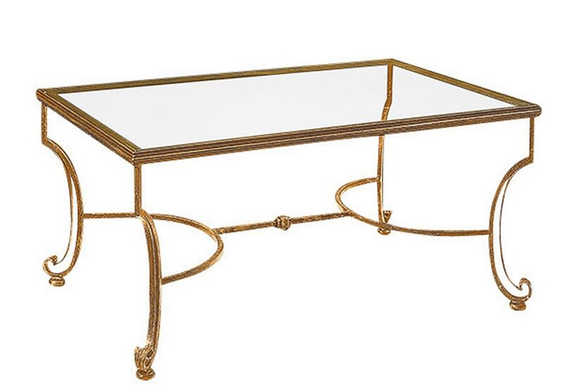 Impressive Series Of Iron Glass Coffee Table Regarding Compare Prices On Wrought Iron Glass Coffee Tables Online (View 19 of 50)
