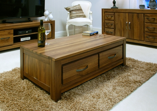 Impressive Series Of Low Coffee Tables With Drawers Within Modern Walnut Low Coffee Table Hampshire Furniture (Image 32 of 50)