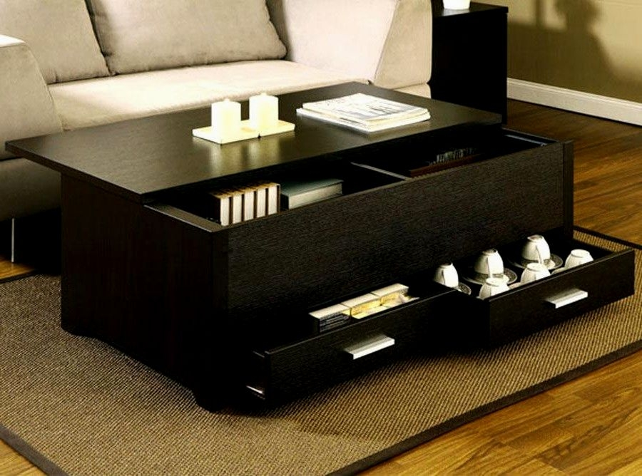 Impressive Series Of Low Coffee Tables With Storage Throughout Black Coffee Table Set Coffee Table Ideas (Image 18 of 40)