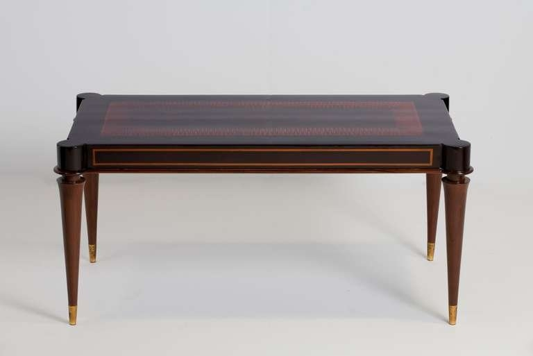 Impressive Series Of Mahogany Coffee Tables Inside Batistin Spade Mahogany Coffee Table France C 1940 For Sale At (Image 21 of 50)