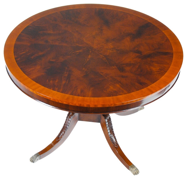Impressive Series Of Mahogany Coffee Tables With Regard To Niagara Furniture Mahogany Lyre Or Harp Round Table Traditional (Image 22 of 50)