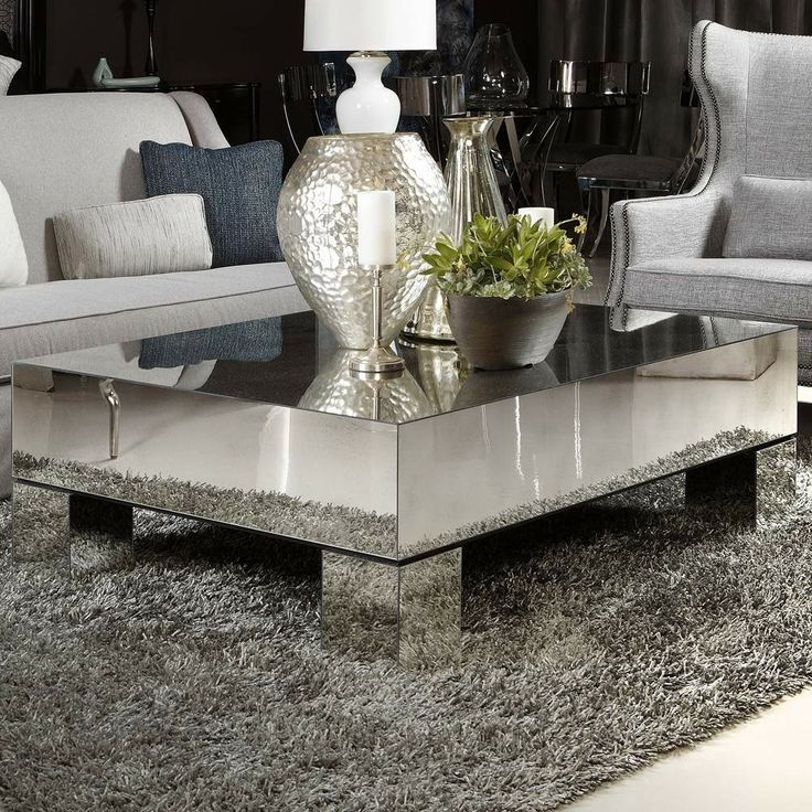 Impressive Series Of Mirrored Coffee Tables In Elegant Mirrored Coffee Tables Design (Photo 10 of 50)