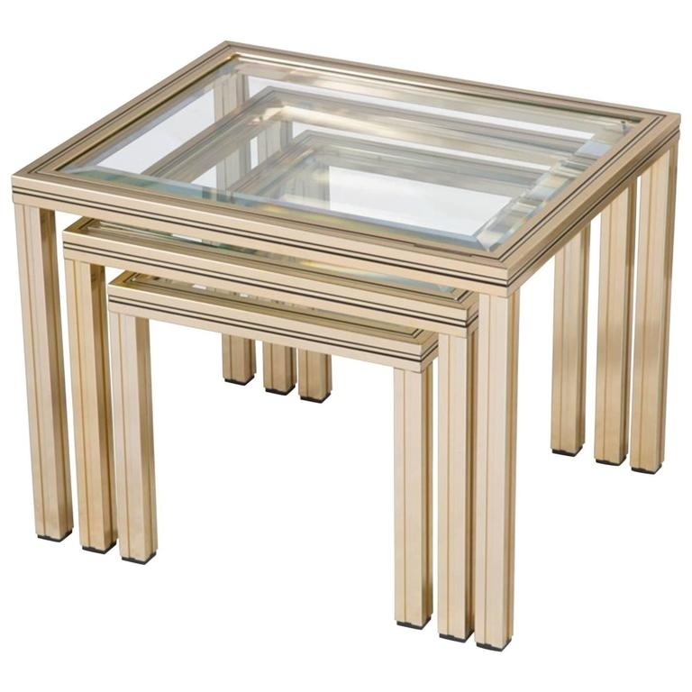 Impressive Series Of Nest Coffee Tables Regarding Nest Of Coffee Tables Pierre Vandel At 1stdibs (Image 25 of 50)