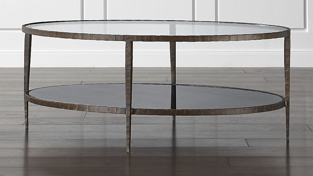 Impressive Series Of Oval Shaped Glass Coffee Tables With Clairemont Oval Coffee Table Crate And Barrel (Image 28 of 50)
