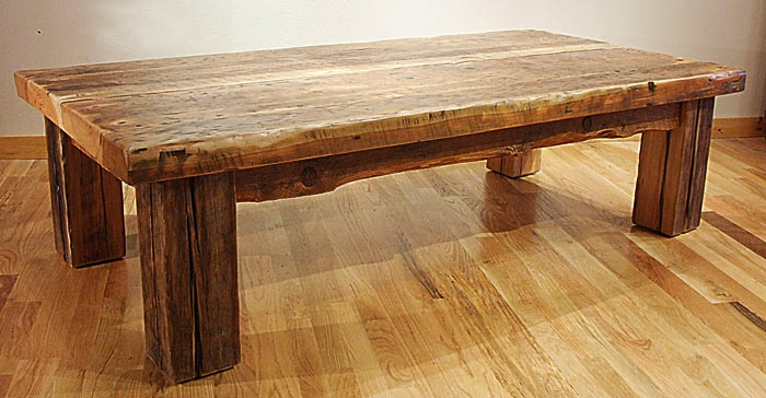 Impressive Series Of Rustic Wood DIY Coffee Tables Regarding Rustic Wooden Coffee Table Idi Design (Image 25 of 50)