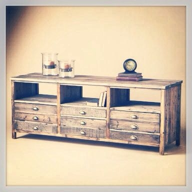 Impressive Series Of Rustic Wood TV Cabinets Throughout 71 Best Tv Stand Images On Pinterest Furniture Plans Rustic Tv (View 35 of 50)