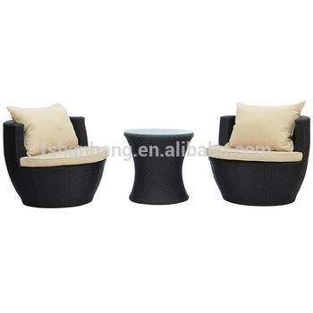 Impressive Series Of Stackable Coffee Tables Inside 3 Piece Wicker Rattan Vase Stackable Coffee Table Lounge Chair (View 22 of 50)