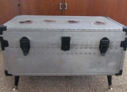 Impressive Series Of Steamer Trunk Stainless Steel Coffee Tables In Steamer Trunk Coffee Table Stainless Steel Jericho Mafjar Project (Image 29 of 50)