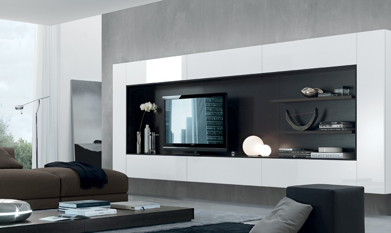 Impressive Series Of White Wall Mounted TV Stands With Regard To Living Room Tv Stands (Image 31 of 50)