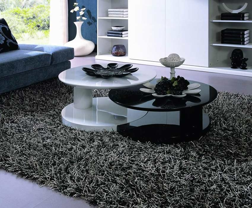 Impressive Top Black Circle Coffee Tables Within Black Round Coffee Table (Image 29 of 50)