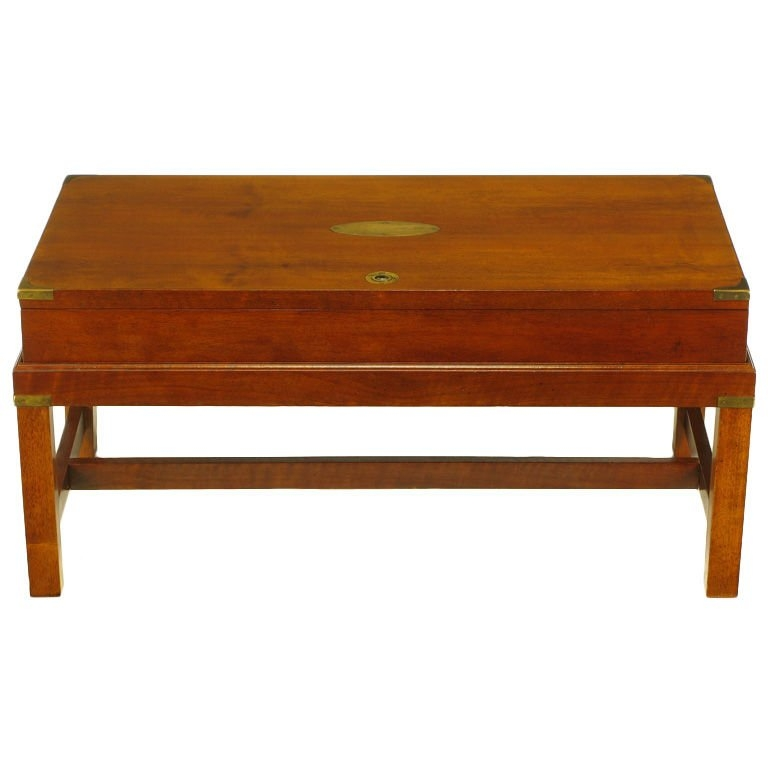Impressive Top Campaign Coffee Tables Within Mahogany Campaign Style Box On Stand Coffee Table At 1stdibs (Image 24 of 50)