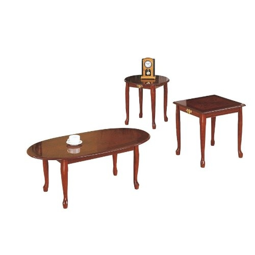 Impressive Top Cherry Wood Coffee Table Sets Pertaining To Amazon Cherry Coffeeend Table Set Kitchen Dining (View 11 of 50)