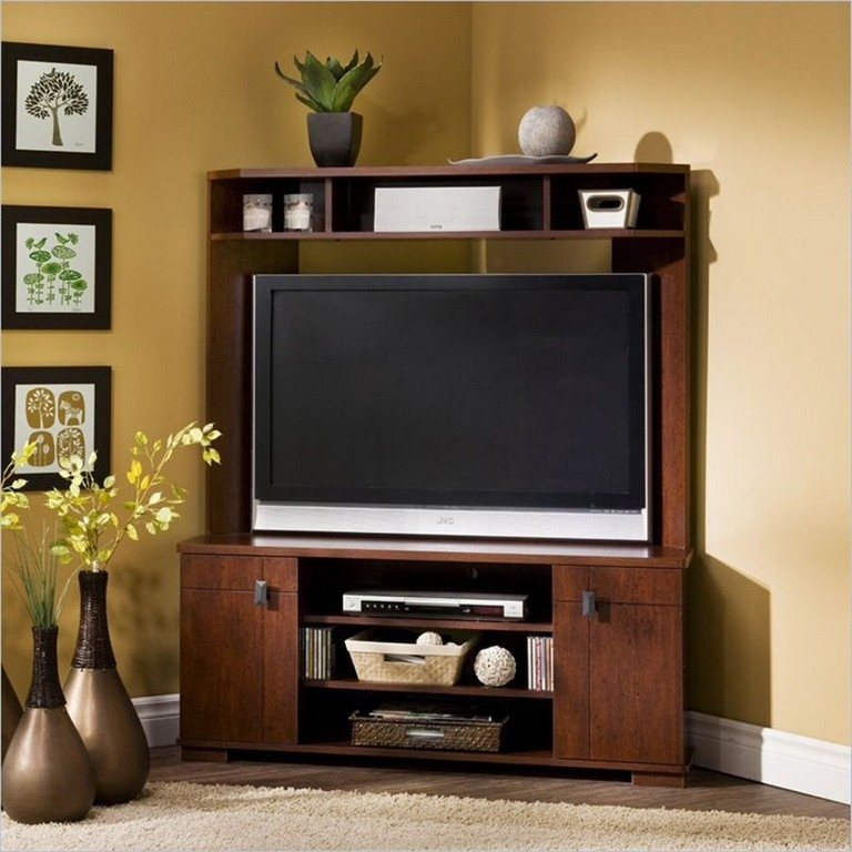 Impressive Top Contemporary Corner TV Stands Within Modern Corner Tv Stands (View 14 of 50)